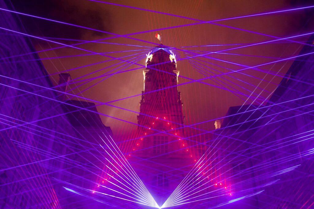 L'Hotel de Ville de Lyon durant le Festival des Lumières